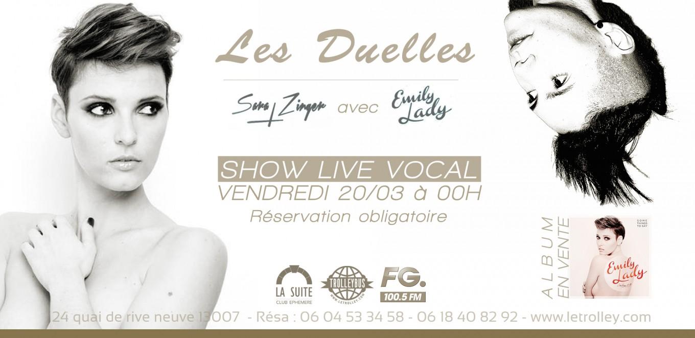 LES DUELLES avec Emily Lady & Sara Zinger, vocal, live, deep, house