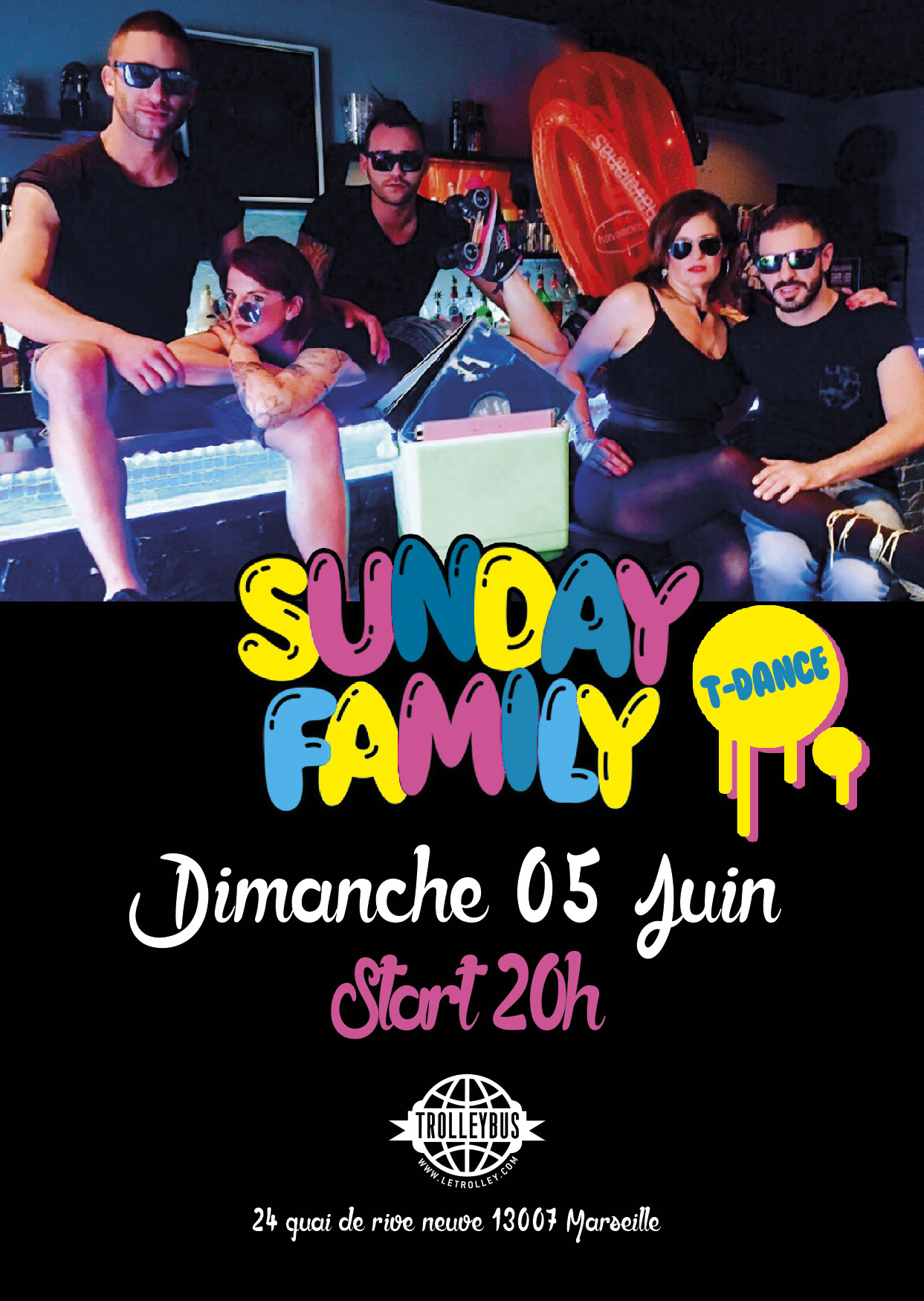 Sunday-Family, marseille, gay, club, dimanche