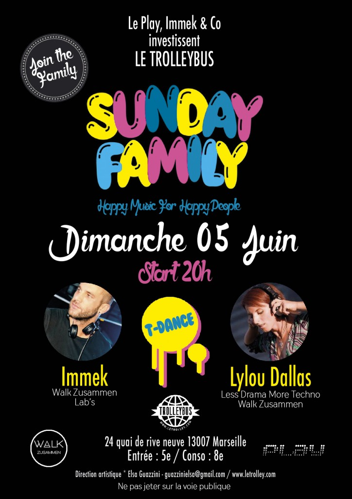 Sunday Family fly 724x1024 SUNDAY FAMILY   5 Juin