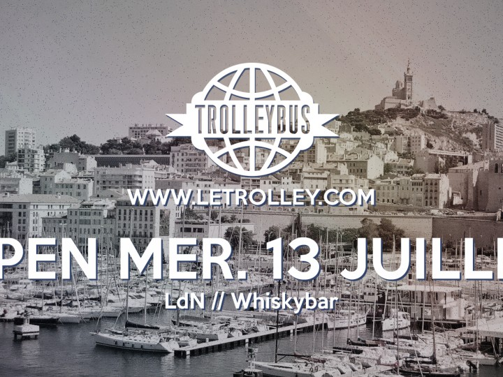 Trolleybus, open, 13 Juillet