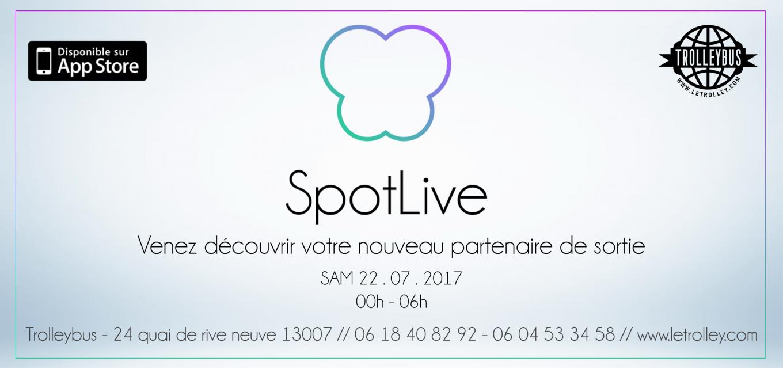SpotLive application, marseille, sortir, boite de nuit, marseille, trolleybus, marquise