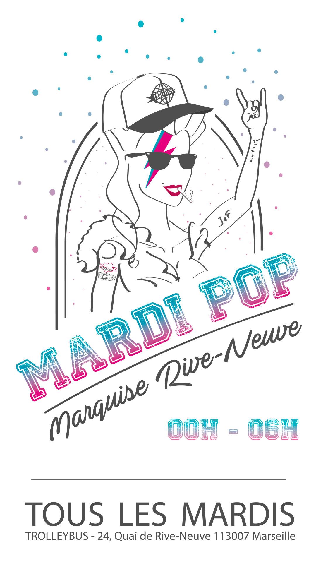 Marquise rive neuve, mardi, ouverture, marseille, club