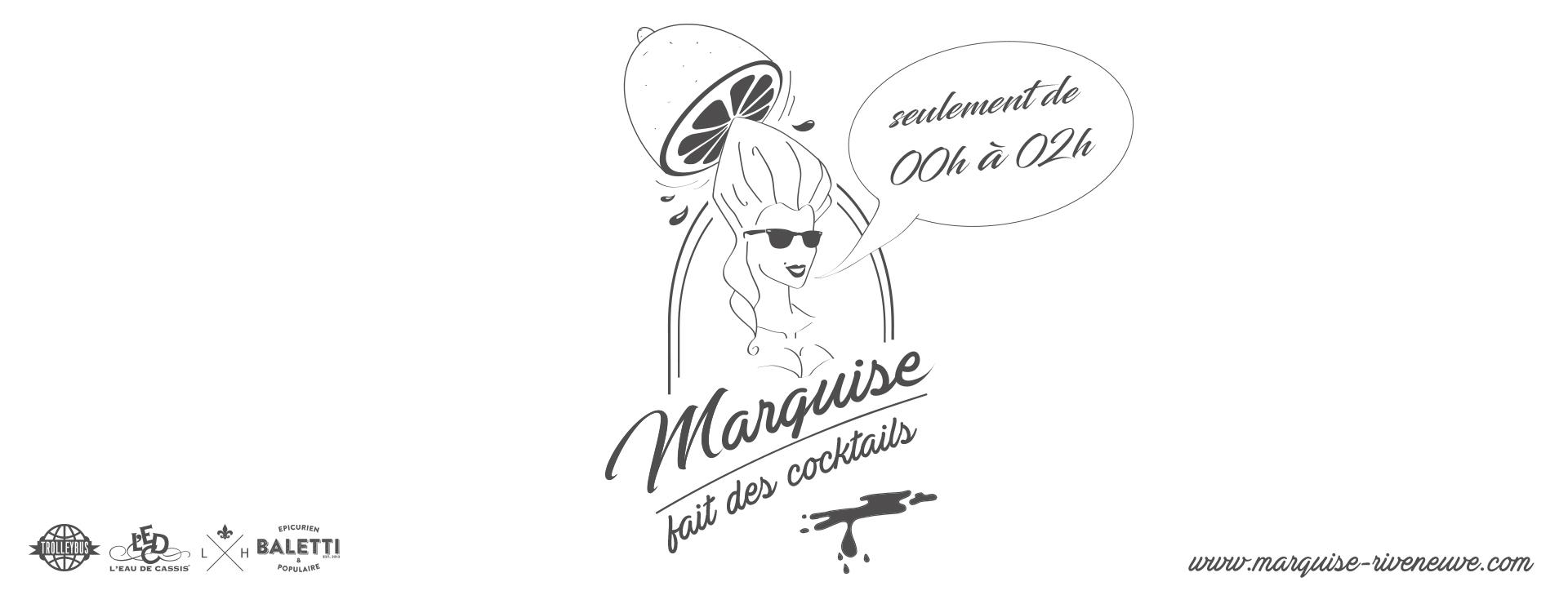 Marquise cocktails PROGRAMME du 27 au 29 Juillet