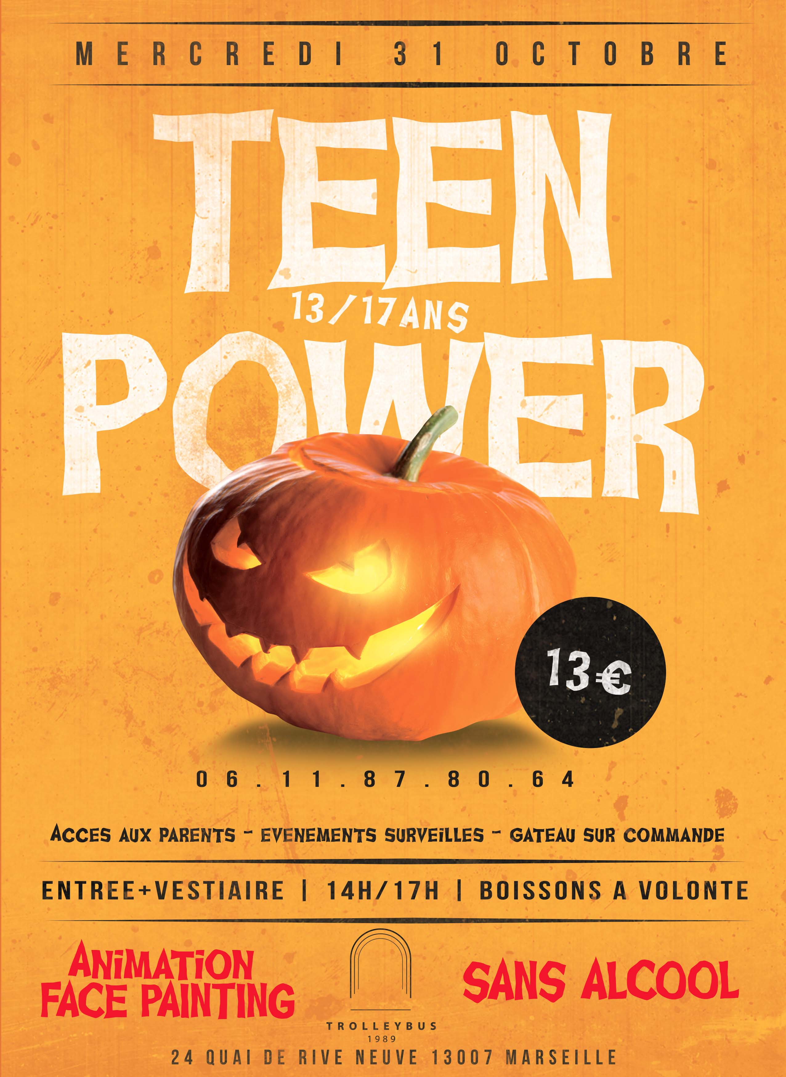 TEENPOWERV3 MERCREDI 31 OCTOBRE : TROLLEY KIDS // TEEN POWER 14h/17h